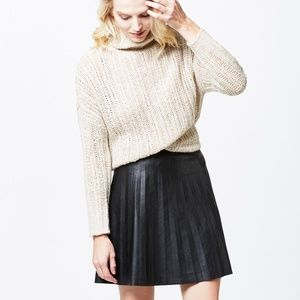 J Crew Faux Leather Circle Skirt
